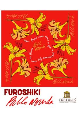 FUROSHIKI NERUDA - Vermelho - 71x71cm - Tertúlia Produtos Literários