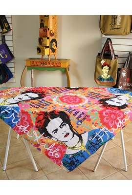 Toalha de Mesa Digital Frida Kahlo Vermelha - Tertúlia Produtos Literários