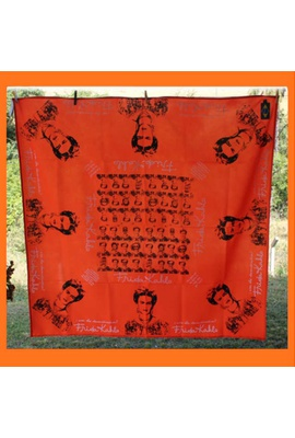 Toalha de Mesa Frida Kahlo Laranja - Tertúlia Produtos Literários