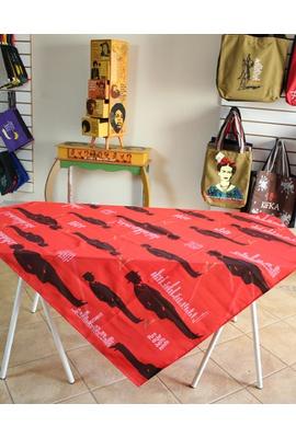 Toalha de Mesa Fernando Pessoa Vermelha - Tertúlia Produtos Literários