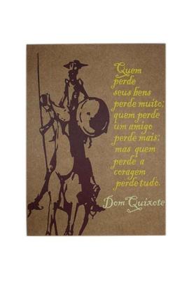Lâmina Dom Quixote Coragem - Tertúlia Produtos Literários