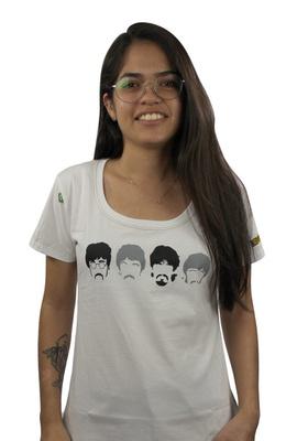 Babylook Beatles Branca - Tertúlia Produtos Literários