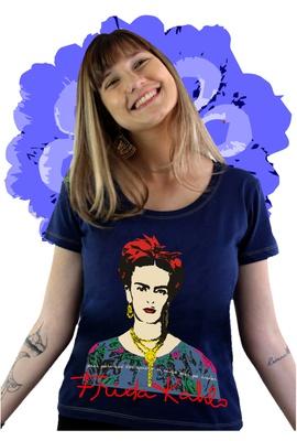 Babylook Frida Kahlo Alas Marinho - Tertúlia Produtos Literários