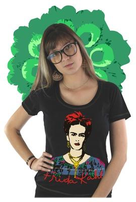 Babylook Frida Kahlo Alas Preta - Tertúlia Produtos Literários