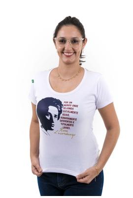Babylook Rosa Luxemburgo Branca - Tertúlia Produtos Literários