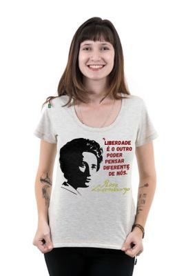 Babylook Rosa Luxemburgo Gelo - Tertúlia Produtos Literários