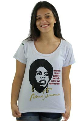 Babylook Nina Simone Amor Branca - Tertúlia Produtos Literários