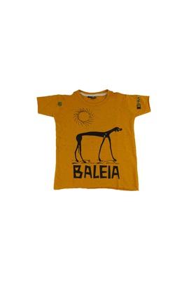 Camiseta Infantil Graciliano Ramos Baleia Mostarda - Tertúlia Produtos Literários