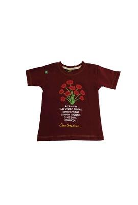 Camiseta Infantil Cora Coralina Recria Bordô - Tertúlia Produtos Literários