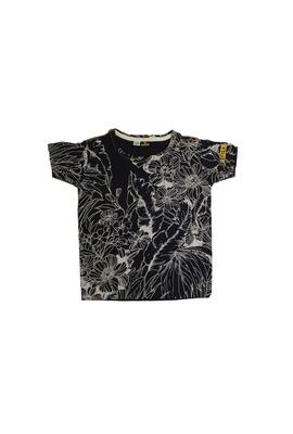 Camiseta Infantil Poesia Floral Preta - Tertúlia Produtos Literários