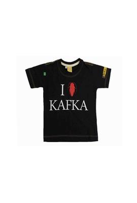 Camiseta Infantil Kafka Preta - Tertúlia Produtos Literários