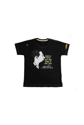 Camiseta Infantil Noel Rosa Preta - Tertúlia Produtos Literários