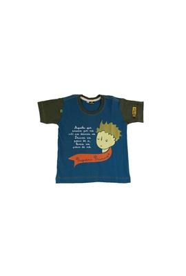 Camiseta Infantil Pequeno Príncipe Azul - Tertúlia Produtos Literários