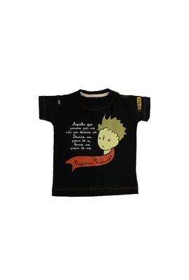 Camiseta Infantil Pequeno Príncipe Preta - Tertúlia Produtos Literários