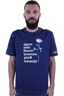 Camiseta Iemanjá Marinho - Tertúlia Produtos Literários