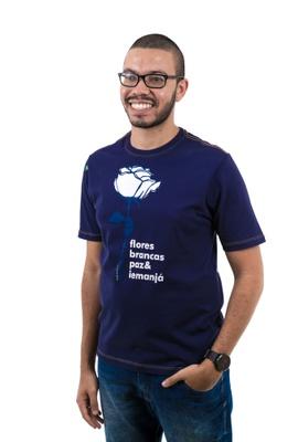 Camiseta Iemanjá Flor Marinho - Tertúlia Produtos Literários