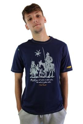 Camiseta Dom Quixote Sabedoria Marinho - Tertúlia Produtos Literários