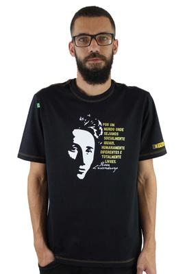 Camiseta Rosa Luxemburgo Preta - Tertúlia Produtos Literários