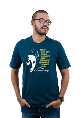 Camiseta Rosa Luxemburgo Musgo - Tertúlia Produtos Literários