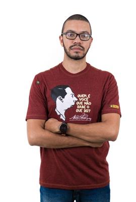 Camiseta Noel Rosa Bordô Mescla - Tertúlia Produtos Literários