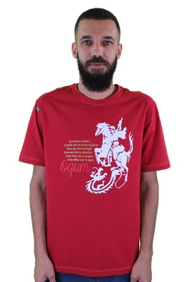 Camiseta Ogum Vermelha - Tertúlia Produtos Literários