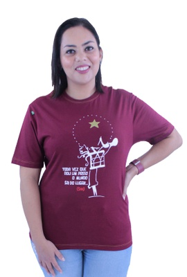 Camiseta Siba Bordô - Tertúlia Produtos Literários