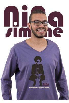 Camiseta Manga Longa Nina Simone Liberdade - Tertúlia Produtos Literários