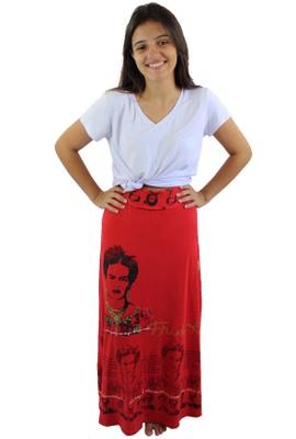 Saia Frida Kahlo Vermelho - Tertúlia Produtos Literários