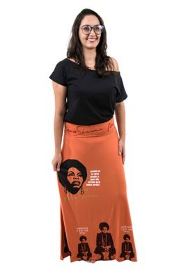 Saia Nina Simone Laranja - Tertúlia Produtos Literários