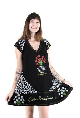 Vestido Cora Coralina Preto - Tertúlia Produtos Literários