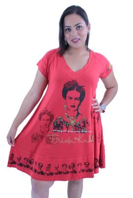 Vestido Frida Kahlo Vermelho - Tertúlia Produtos Literários