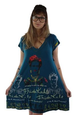 Vestido Frida Kahlo Azul - Tertúlia Produtos Literários