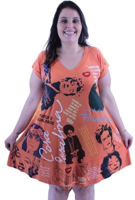 Vestido Coleção Mulheres Laranja - Tertúlia Produtos Literários