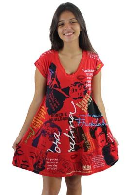 Vestido Coleção Mulheres Vermelho - Tertúlia Produtos Literários