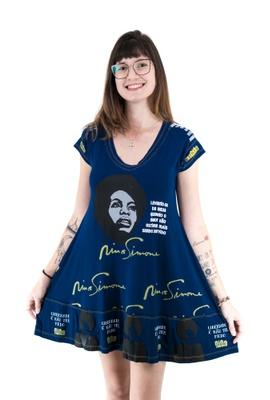 Vestido Nina Simone Marinho - Tertúlia Produtos Literários