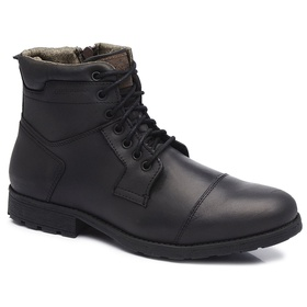 Bota Coturno Casual Gogowear 100% Couro ref Silver... - Loja Gogowear