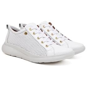 Tênis Casual Feminino Branco Conforto - 1600 B - MADOK