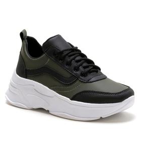 Tênis Feminino Sneaker Chunky Verde Preto - 4000 V... - MADOK