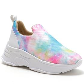 Tênis Feminino Sneaker Chunky Tiedye Telinha. - 40... - MADOK