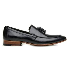 Sapato Social Preto Couro Wood Bambolim - 58850 B ... - MADOK