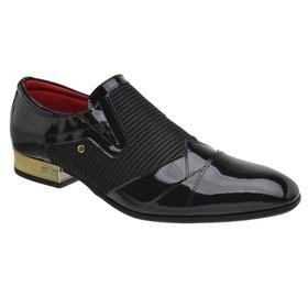 Sapato Social Jota Pe Preto Ducalle Gold - 70918 - MADOK