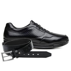 Sapato Jota Pe Preto 3D Air Evolution + Cinto de C... - MADOK