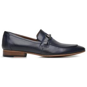 Sapato Social Couro Marinho Premium - 58856 Az Ma... - MADOK