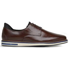Sapato Casual Oxford Mouro Couro Wood - 59750 Mour - MADOK