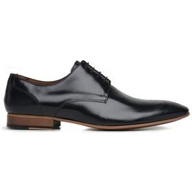 Sapato Social Couro Preto Wood - 60068 P Perf - MADOK