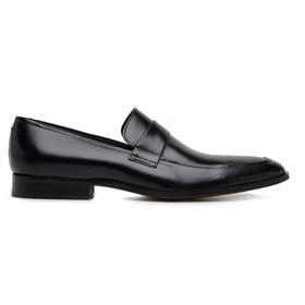 Sapato Social Preto Couro - 60072 P GR LISA - MADOK
