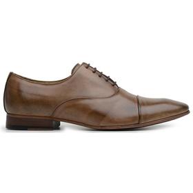 Sapato Social Couro Tan Marrom Mesclado - 60078 ta... - MADOK
