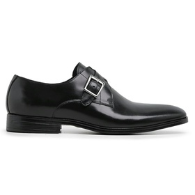 Sapato Social Couro Preto Wood - 60462 P - MADOK