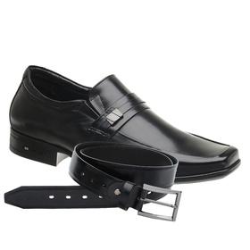 Sapato Jota Pe Preto Air 3D Executive + Cinto de C... - MADOK