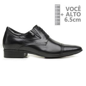 Sapato com Salto Interno Jota Pe Preto Grow Air Ma... - MADOK